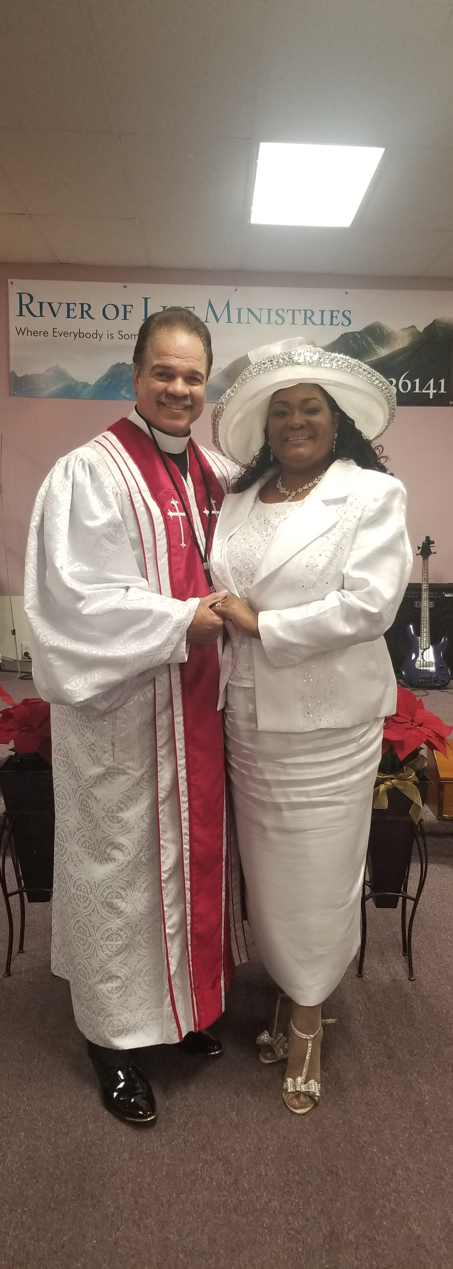 Bishop Mario D. Williams and First Lady, Missionary Rene' Williams